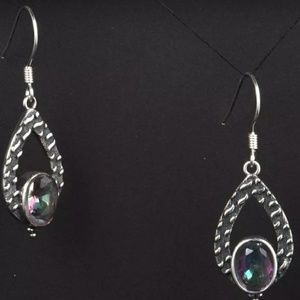 Jewelry - Sale🎉Silver Mystic fire topaz earrings